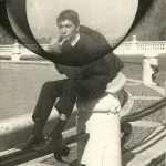 Cipriani Antonio - Roberto -al Fontanone del Gianicolo- nel 1962. Uno dei giorni che marinavamo la scuola. Giulio Romano.