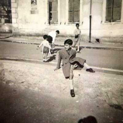 Emilio Gagliardi - via Bartolo da Sassoferrato, angolo via Accursio (s'intravede in alto a sinistra), anno 1950 circa