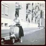Fabrizio Corvasce - Mia madre in vespa primi anni '50 zona Quadraro