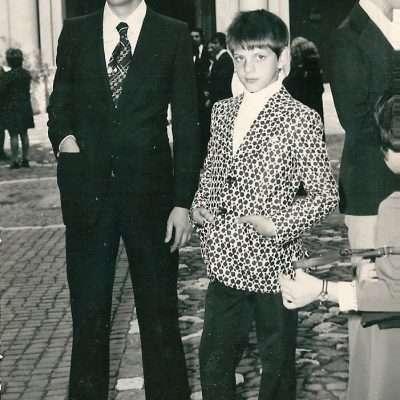 Fracassa Fabrizio - piazza san salvatore in lauro prima comunione 1973
