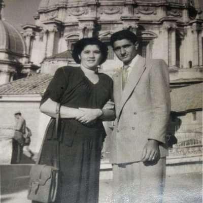 Francesca Minerva - 1948. I miei nonni in viaggio di nozze a Roma da Andria