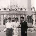 Gentile Paglia - Mia zia Maria con il fidanzato dell'epoca scortata dal fratello, mio zio Alfredo (fine anni 50:primissimi anni 60)