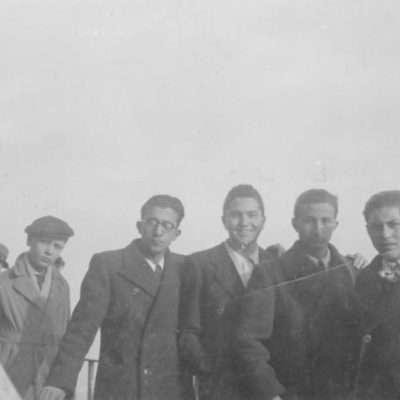 Giancarlo Rago - Mio padre al centro senza cappello e con gli occhiali tondi in cima alla cupola di San Pietro nel 1938