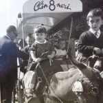 Gianna Sartori - Mia figlia Patrizia,sull'asinello del carrettino che portava a spasso i bambini per villa Borghese...1965