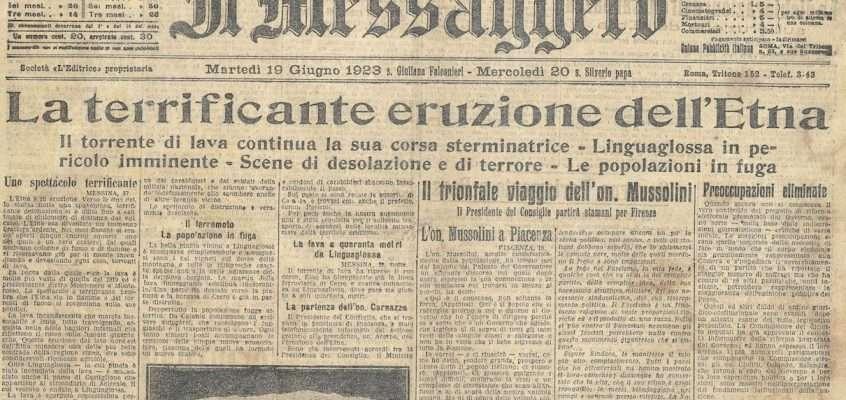 Il Messaggero – 19 giugno 1923