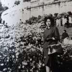 Mary Ferrari Mamma , scalinata Trinità dei Monti,1962