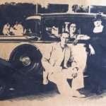 Massimo Di Pietro Giacchieri - Mio padre, mia madre alla guida e la nonna Anna a villa borghese 1939