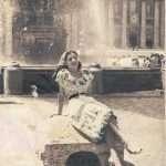 Patrizia di Venenzio - la mia mamma a 17 anni, piazza S.Pietro 1949