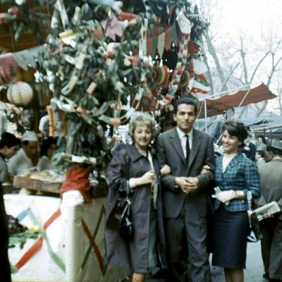 Paula Wolf - Festa di S.Giuseppe al Trionfale. Anno 1961. Le mie amiche Lilli e Fernanda con Walter Caicedo