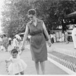 Rossella Tartaglia Io e mamma al Luneur, 1964.