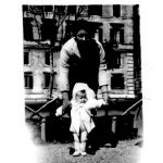 Stefania Zampi - Mia madre ed io Piazza santa croce in Gerusalemme 1951