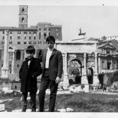 Stefano Prudenzi - Io e mio fratello Alberto Foro Romano circa 1968
