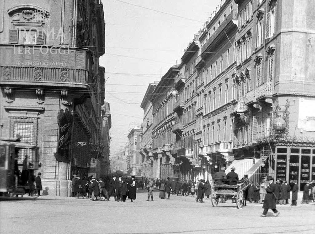 Via del corso 1924 roma ieri oggi for Mac roma via del corso