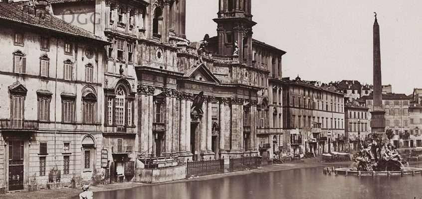 Piazza Navona (Tommaso Cuccioni, 1858)