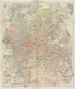 Pianta di Roma - Istituto Geografico De Agostini 1930
