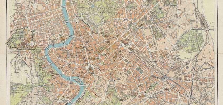 Pianta di Roma – Istituto Geografico De Agostini 1930