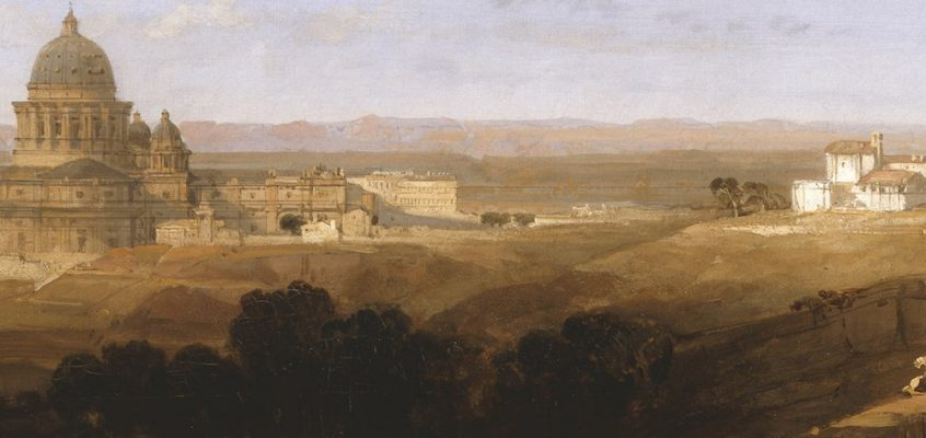 St. Peter's, Looking Back on Rome (David Roberts, 1853)