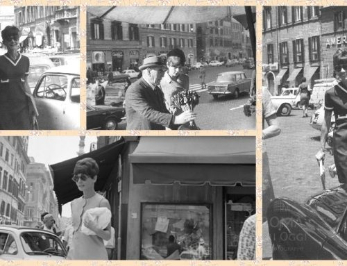 Audrey Hepburn a piazza di Spagna (anni vari)