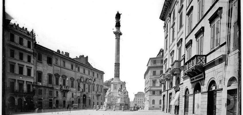Piazza di Spagna nei primi anni del '900