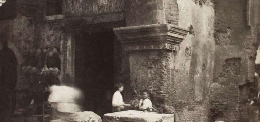 Portico d'Ottavia (Stieglitz, 1885 ca)