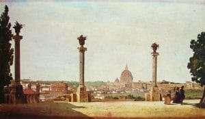 Monte Pincio di mattina (Ippolito Caffi, 1850 ca)