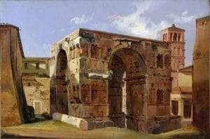 Arco di Giano (Ippolito Caffi, 1857)