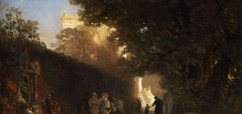 Nei dintorni di Villa Gordiani (Oswald Achenbach)