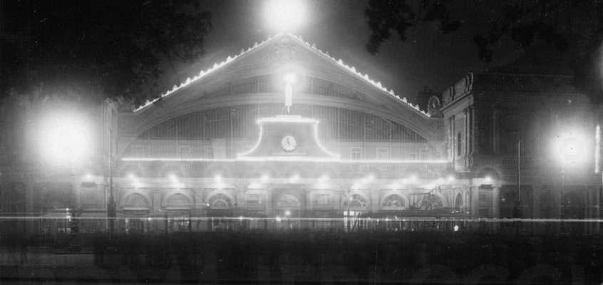 Vecchia Stazione Termini di notte (1920 ca)