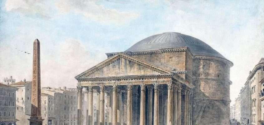 Vista del Pantheon a Roma (Jean Francois de Thomon, 1790)