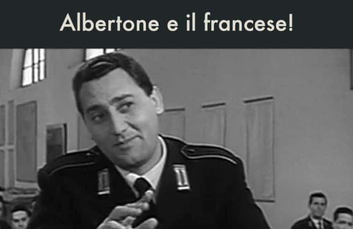 Albertone e il francese!