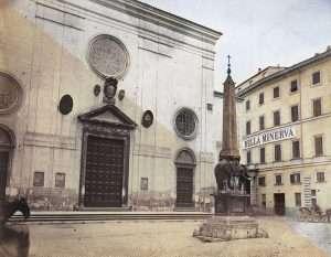 Piazza della Minerva (Parker, 1870 ca)