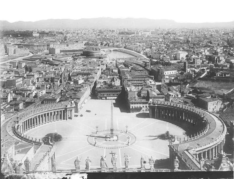 Panorama dalla cupola di San Pietro (1910 ca)