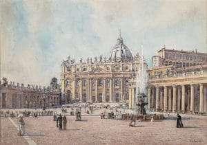 Basilica di San Pietro (Edward Darley Boit, 1912)