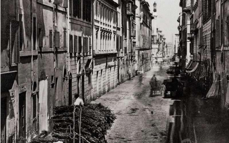Via dei Due Macelli (1870 ca)