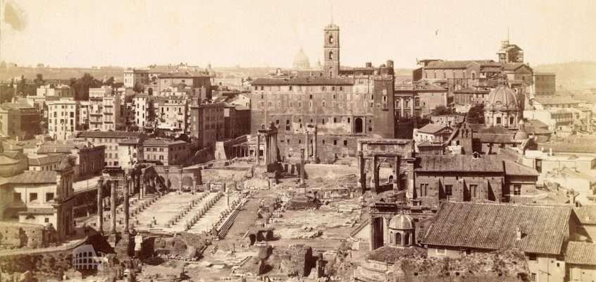 Panorama Foro Romano (1880 ca)