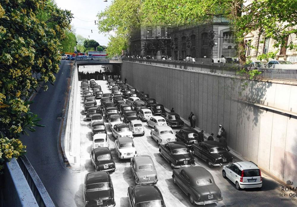 Traffico sul Lungotevere