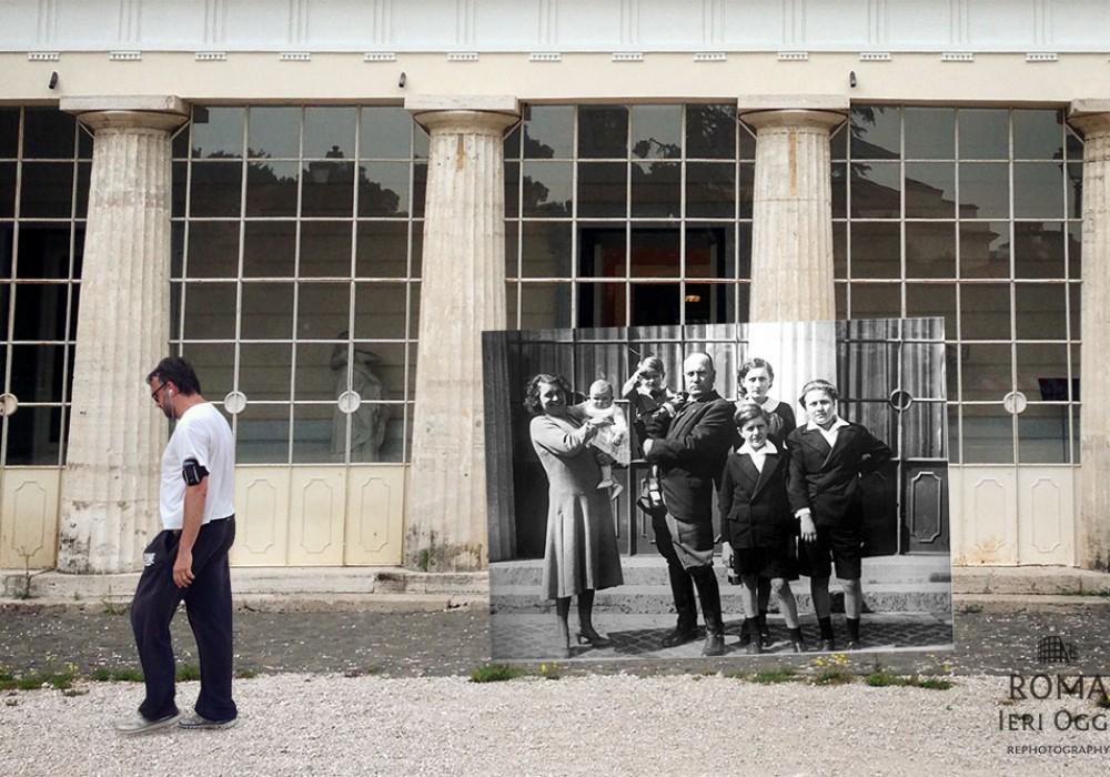 Mussolini e famiglia a Villa Torlonia