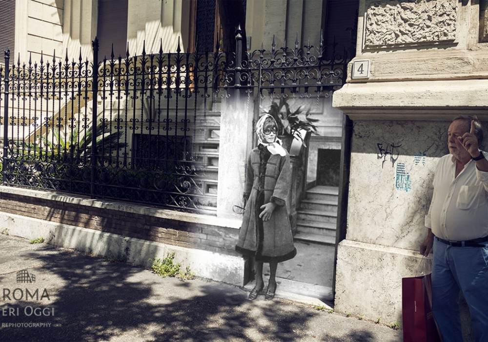 Audrey Hepburn in Via Crescenzio