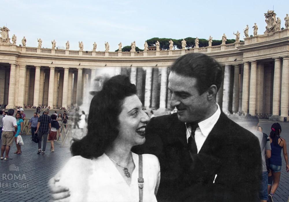 Foto di famiglia: mamma e papà di Giulia a San Pietro