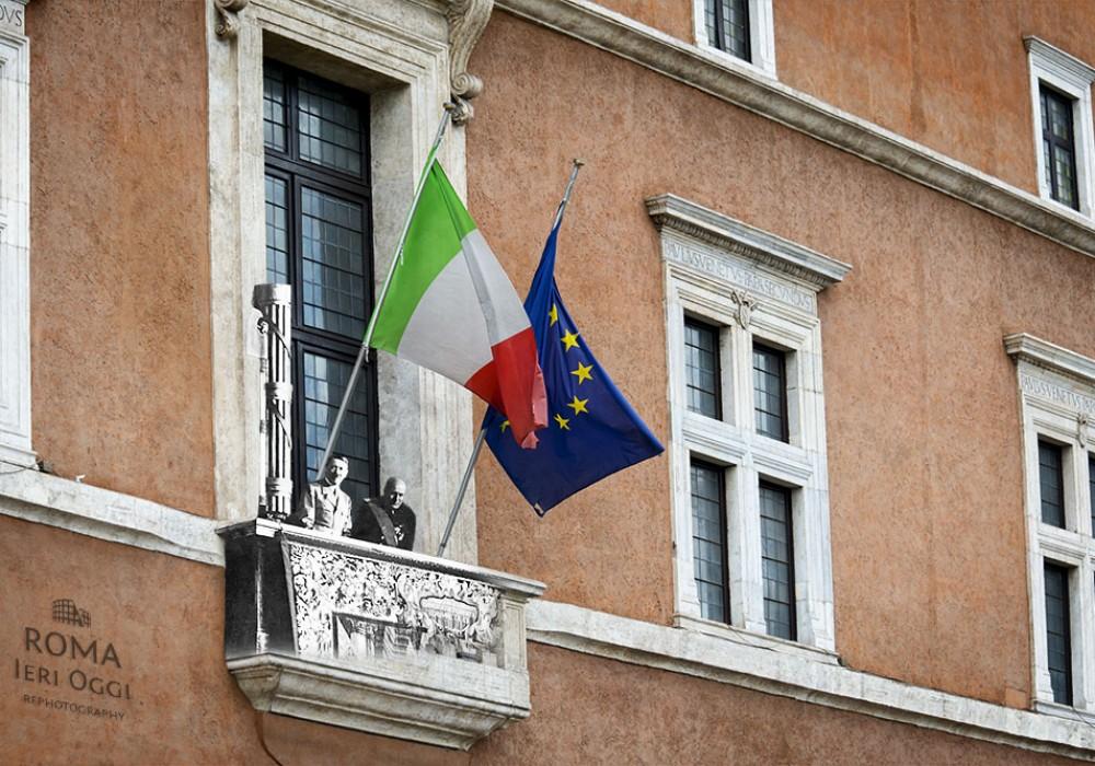 Il famoso balcone di Piazza Venezia